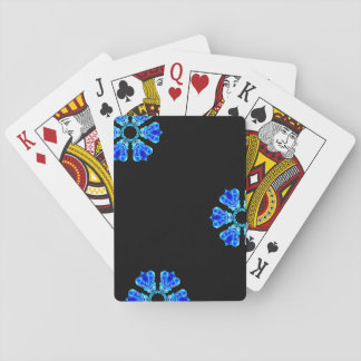 Blue Petals Playing Cards