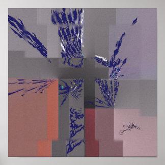 Blue Petals Poster