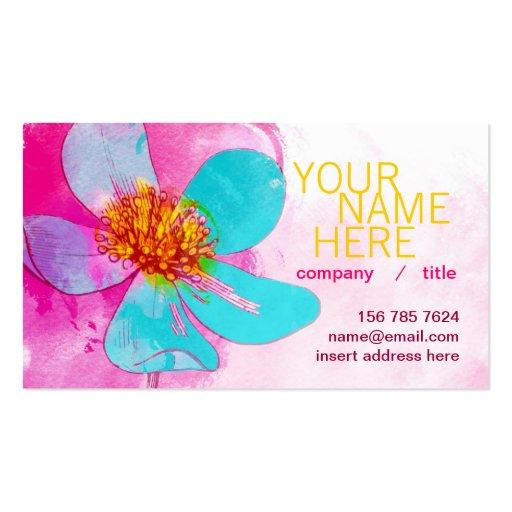 Blue Petals Profile Card Business Card Templates
