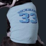 "Blue Pets | Dog Sports Jersey Design Tee<br><div class=""desc"">Blue Pets | Dog Sports Jersey Design • Dog Jersey Pet Clothing</div>"