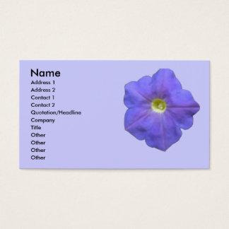 Blue Petunia Customizable Business Card
