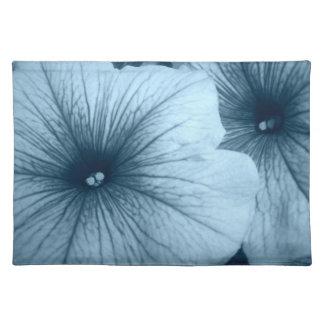 Blue Petunias Cloth Placemat