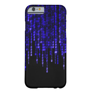 Blue Phantom Binary Code Barely There iPhone 6 Case
