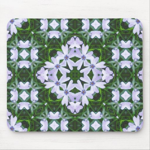 Blue Phlox Kaleidoscope Mouse Pad