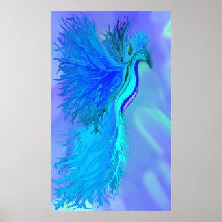 Blue Phoenix print