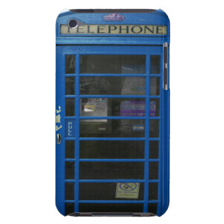 blue phone booth barely there iPod cover