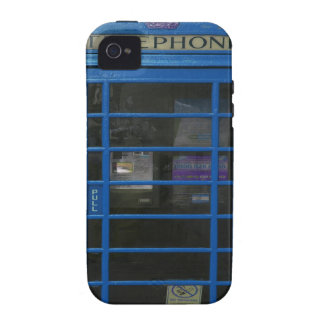 blue phone booth Case-Mate iPhone 4 cover
