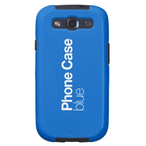 Blue Phone Case for Galaxy S III Galaxy S3 Covers