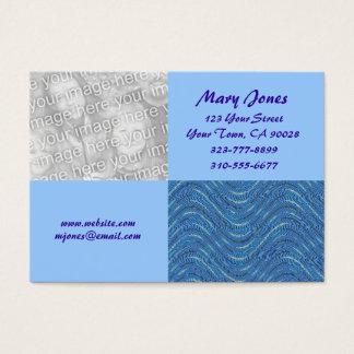 Blue photo card