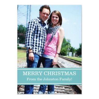 Blue Photo Christmas Cards
