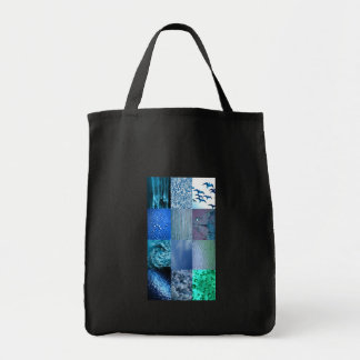 Blue Photo Collage Tote Bag