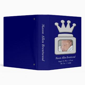 Blue Photo Frame Prince Crown Photo Album 3 Ring Binder