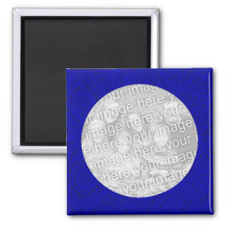 Blue Photo Magnet Template