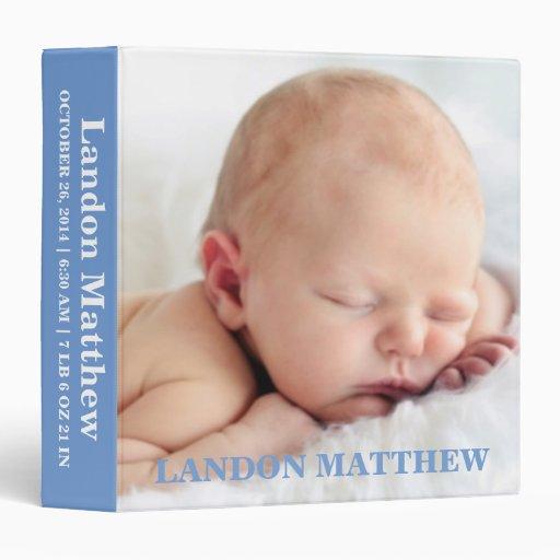 Blue Photo Personalized Binder Album