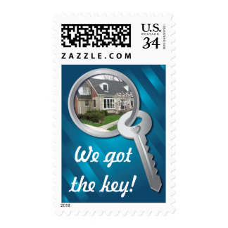 Blue Photo Template Key Ring New Home Stamps