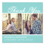 Blue Photo Wedding Thank You Cards Announcements