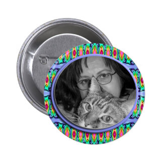 blue photoframe pinback button