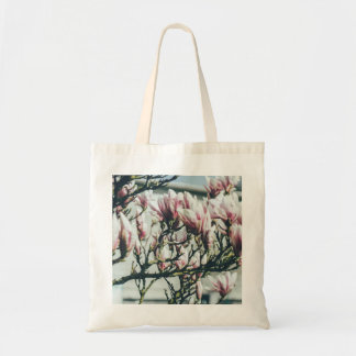 Blue Photograph, Magnolia Tree In Spring Tote Bag