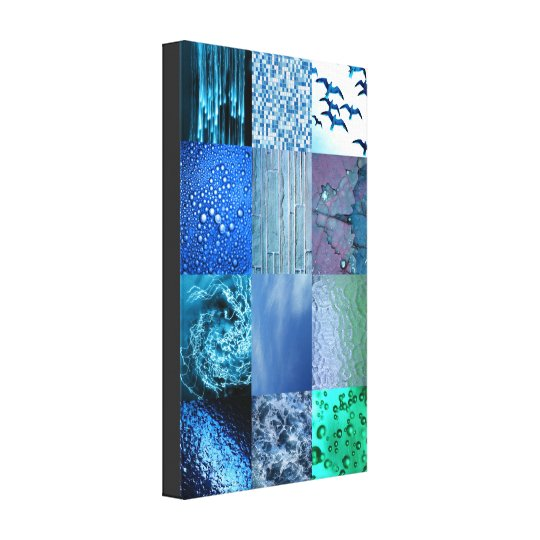 Blue Photography Collage Canvas Print