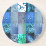Blue Photography Collage Coasters