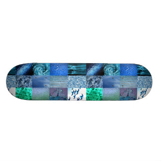 Blue Photography Collage Skateboard Deck