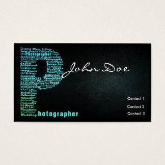 Blue Photography Typographic Business card