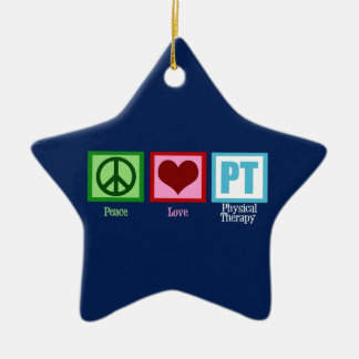 Blue Physical Therapy Ceramic Ornament