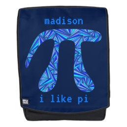 Blue Pi Symbol Math Geek Back To School Add Name Backpack