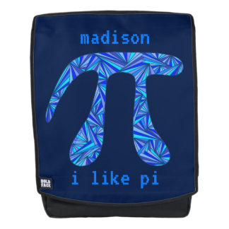 Blue Pi Symbol Math Geek Back To School Add Name Backpack