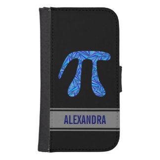 Blue Pi Symbol Math Geek Nerd Fun Custom Galaxy S4 Wallet Case