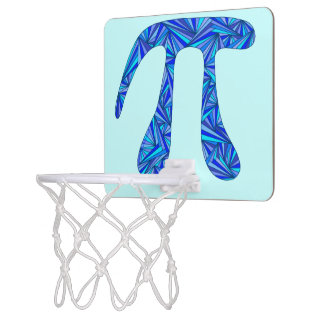 Blue Pi Symbol Math Geek Nerd Fun Office Games Mini Basketball Backboard