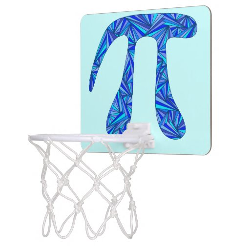 Blue Pi Symbol Math Geek Nerd Fun Office Games Mini Basketball Backboard