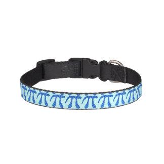 Blue Pi Symbol Math Geek Nerd Fun Pet Fashion Pet Collar