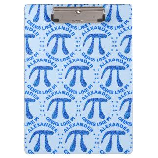 Blue Pi Symbol Math Geek Science Nerd Fun Colorful Clipboard