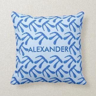 Blue Pi Symbol Math Geek Science Nerd Fun Colorful Throw Pillows