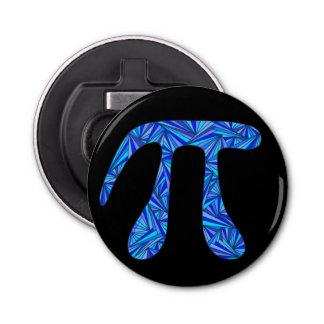 Blue Pi Symbol Math Geek Science Nerd Fun Custom Button Bottle Opener