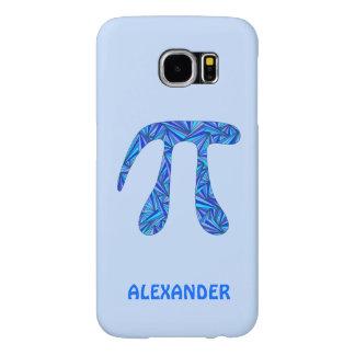 Blue Pi Symbol Math Geek Science Nerd Fun Samsung Galaxy S6 Cases