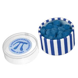 Blue Pi Symbol Math Geek Science Nerd Happy Pi Day Chewing Gum Favors