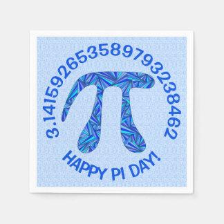 Blue Pi Symbol Math Geek Science Nerd Happy Pi Day Standard Cocktail Napkin