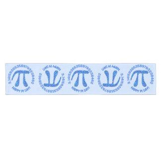 Blue Pi Symbol Math Geek Science Nerd Happy Pi Day Short Table Runner