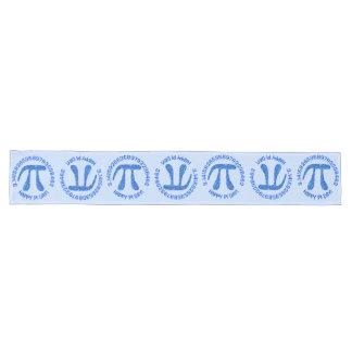 Blue Pi Symbol Math Geek Science Nerd Happy Pi Day Long Table Runner