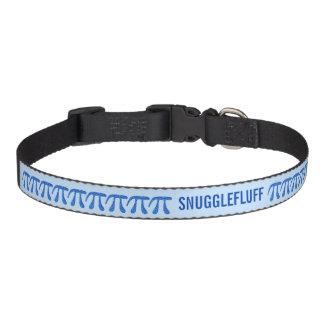 Blue Pi Symbol Math Geek Science Nerd Personalized Dog Collar