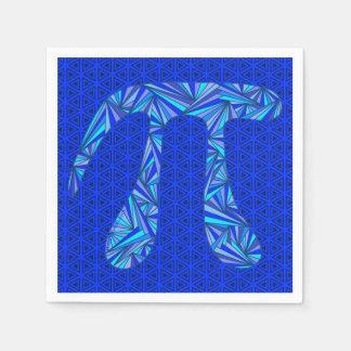 Blue Pi Symbol Math Geek Science Nerd Pi Day Party Standard Cocktail Napkin