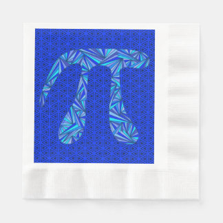 Blue Pi Symbol Math Geek Science Nerd Pi Day Party Coined Luncheon Napkin