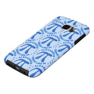 Blue Pi Symbol Math Geek Science Nerd Samsung Galaxy S6 Cases