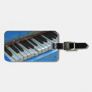 Blue Piano Bag Tag