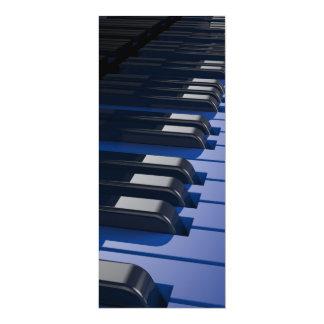 """Blue Piano 4"""" X 9.25"""" Invitation Card"""