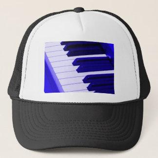 Blue Piano Keyboard Trucker Hat