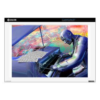 Blue Piano laptop skin