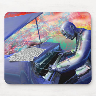 Blue Piano Mouse Pad